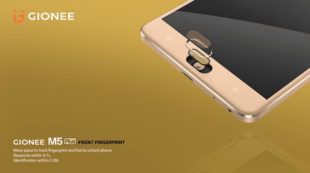 Gionee M5 Plus Fingerprint
