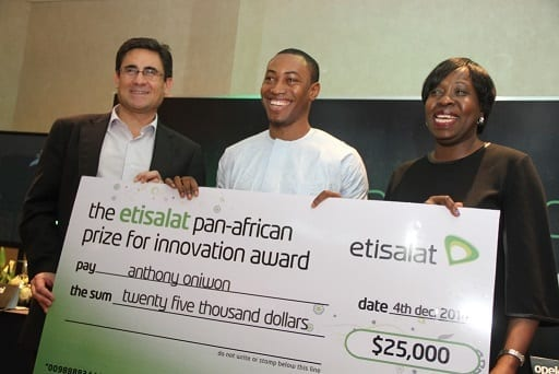 Etisalat Innovation Prize Winner Anthony Oniwon