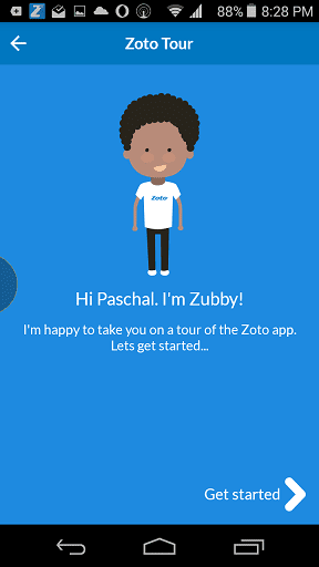 Zubby Assistant on Zoto