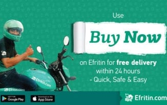 Use Efritin's Buy Now Service for Free delivery within 24 hours