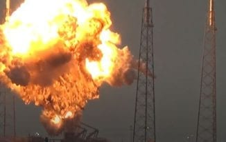 Facebook Internet Satellite Destroyed in the SpaceX Explosion