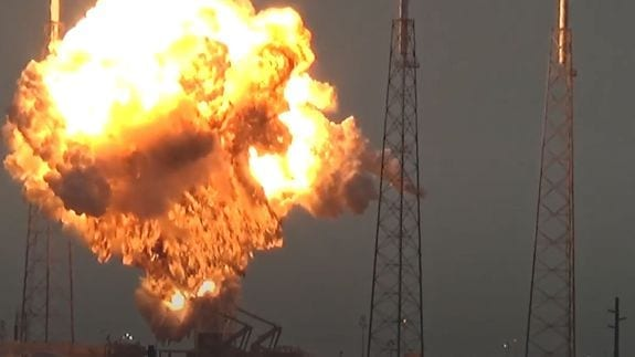 Facebook Internet Satellite Explodes in SpaceX