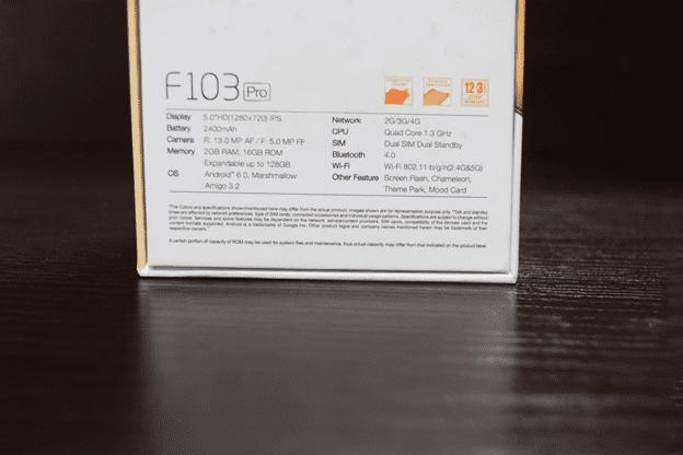 Gionee F103 Pro Box