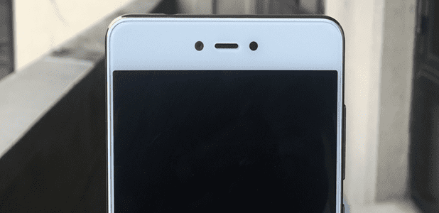 Gionee F103 Pro Front View showing the Front Facing Camera