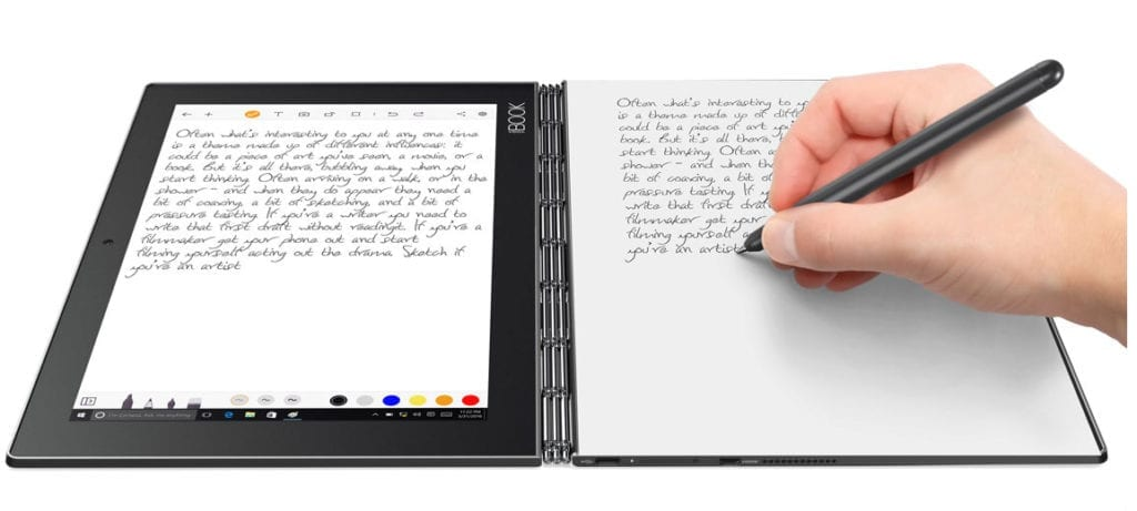 Notetaking with the Lenovo Yoga Book