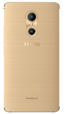 Tecno Phantom 6 Rear View showing the dual Camera