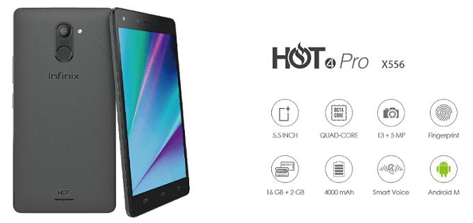 Infinix Hot 4 Pro X556 Specs & Price