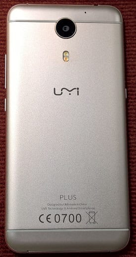 Rear view of the UMi Plus