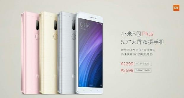 Xiaomi Mi 5S Plus Specs & Price