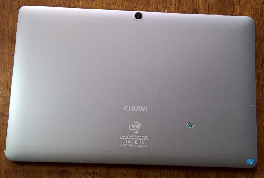 Chuwi Hi10 Pro rear view showing the 2MP camera