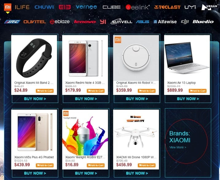 Gearbest Black Friday Deals by Brand