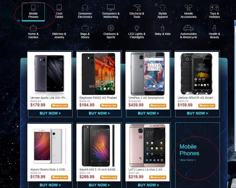 Gearbest Black Friday Deals on Phones