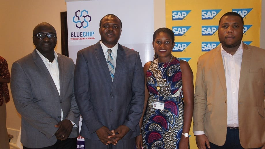 Tope Ojo (Chief Delivery Officer, Bluechip), Aderinola Oloruntoye (Head of Innovation, SAP West Africa), Ugocho Agoreyo (Senior Partner Account Manager, Bluechip) and Olumide Soyombo (Partner & Co-Founder, Bluechip Technologies)