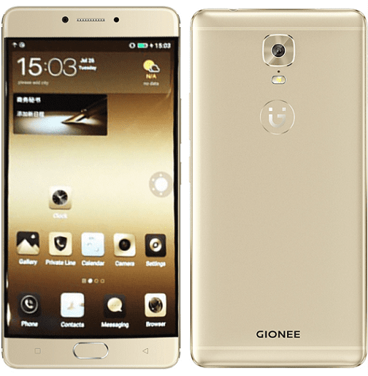 Gionee M6 Front and Back