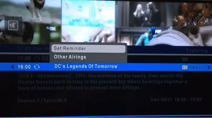 How to set a Quick Programme Reminder on your DSTV HD Decoder
