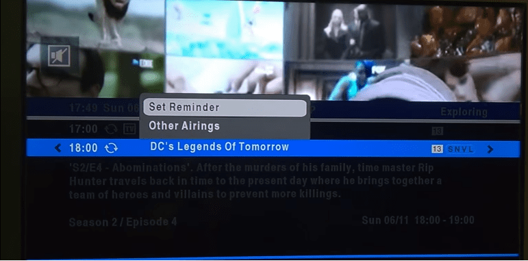Set a Reminder on DSTV HD Decoder