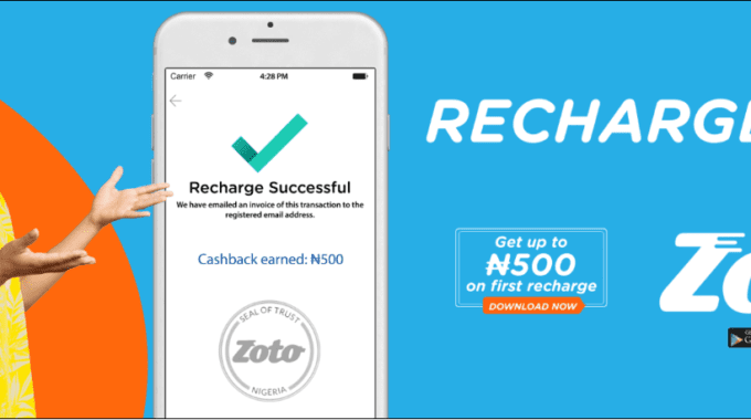 Zoto Mobile Recharge App becomes the Number One App in Nigeria
