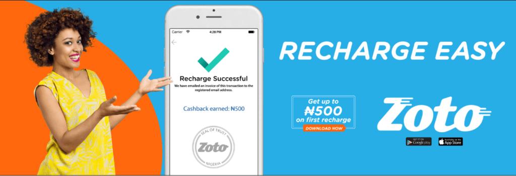Zoto Mobile Recharge App