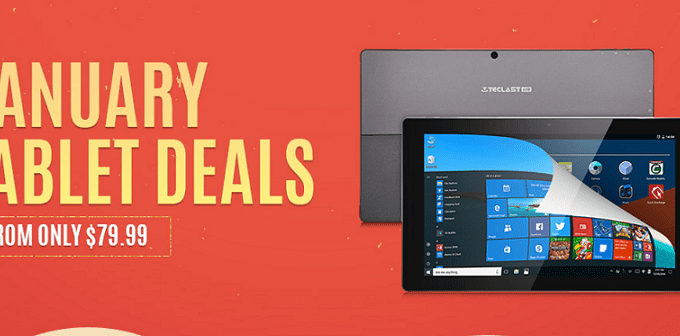 January Tablet Deals from Gearbest