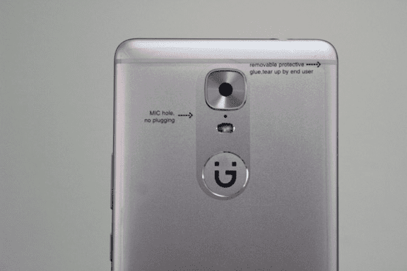 Gionee M6 showing 13MP Camera