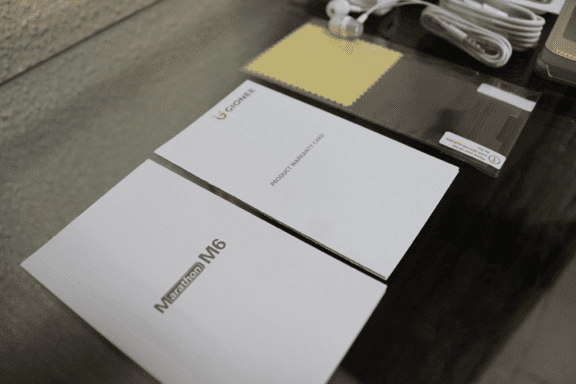 Gionee M6 Warranty Card
