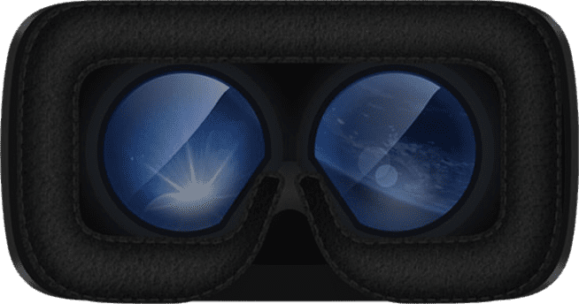 Inside the PiMax 4K VR Headset showing lenses