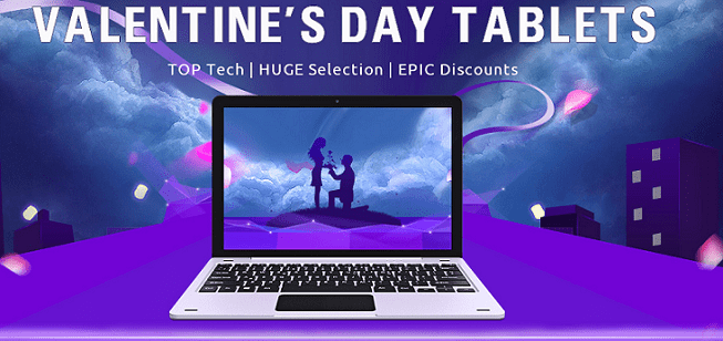 Gearbest Tablets Deals for Valentine's Day