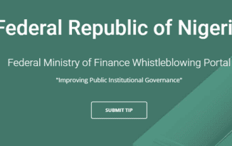 Whistleblowers head to whistle.finance.gov.ng