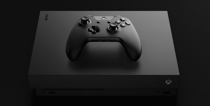 XBox One X gaming console