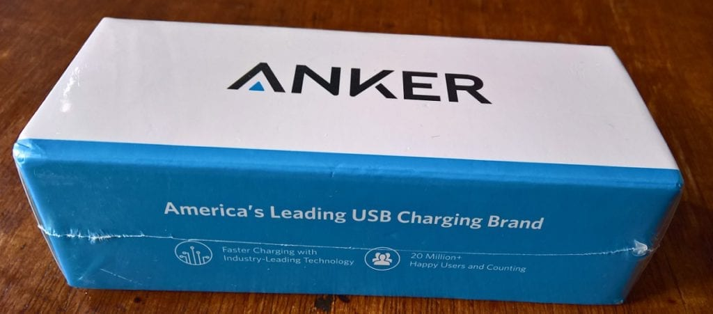 Wrapped Anker PowerCore II 20000 portable charger