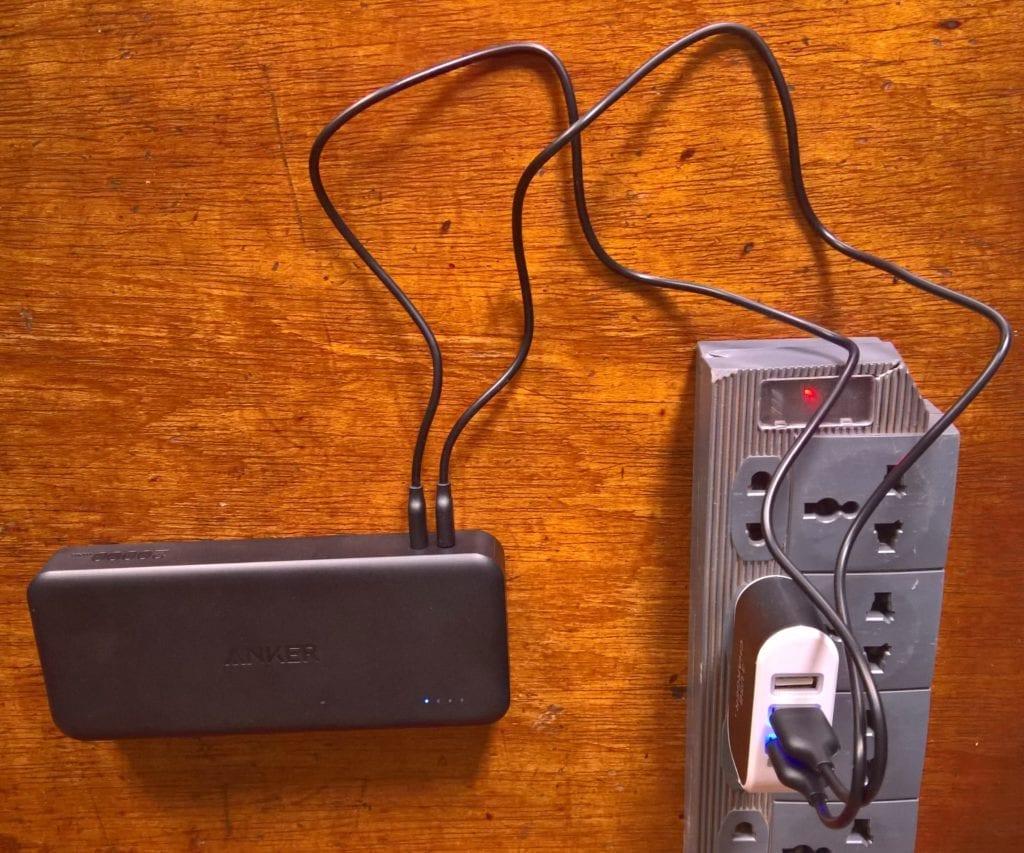 Charging the Anker PowerCore II 20000