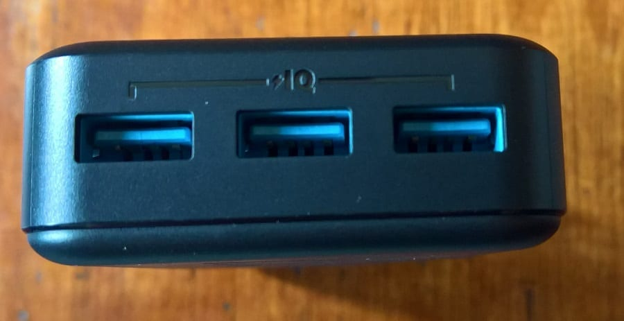 Anker PowerCore II 20000 with three USB output ports