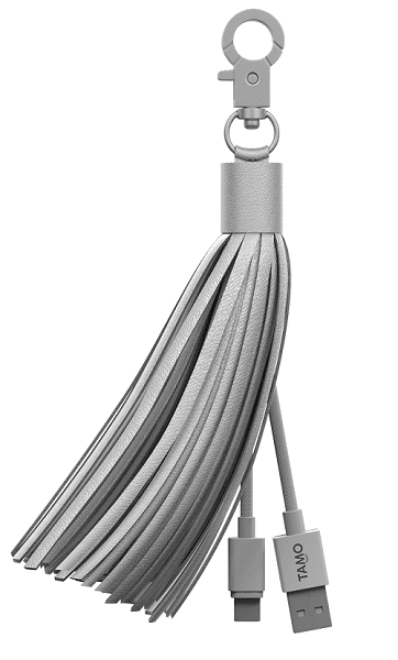 Leather tassel lighting charging cable