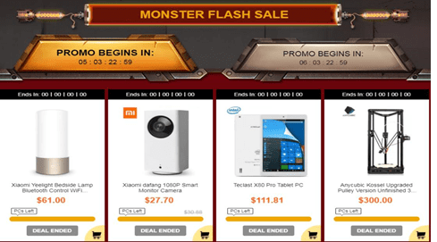 Gearbest Black Friday Monster Flash Sale