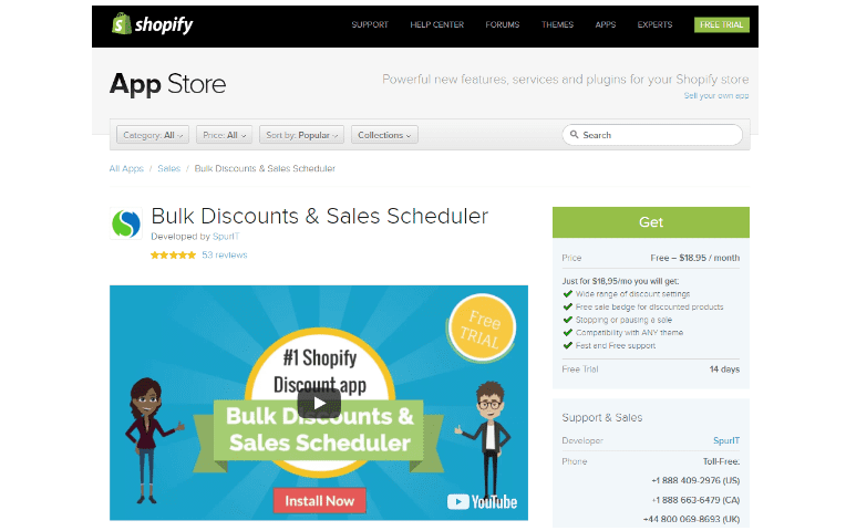 Shopify Bulk Discount and Sales Scheduler by SpurIT
