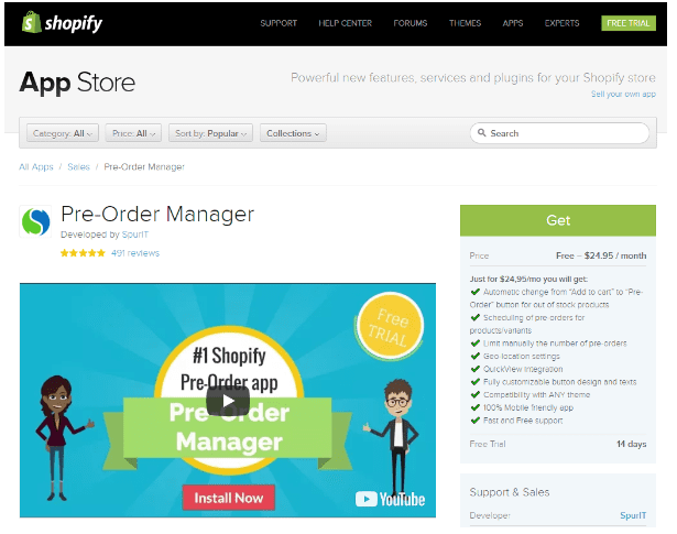 Shopify Pre-order Manager by SpurIT