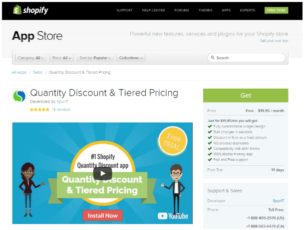 Shopify Quantity Discount and Tiered Pricing