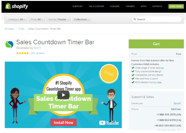 Best Shopify Apps - Shopify Sales Countdown Time Bar