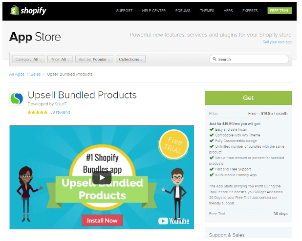 Shopify Upsell Bundled Products