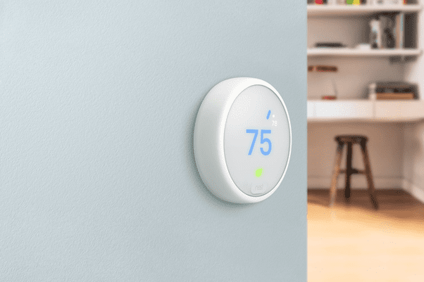 Smart Thermostat on the Wall