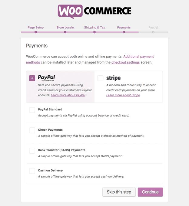 WooCommerce Payment Setup