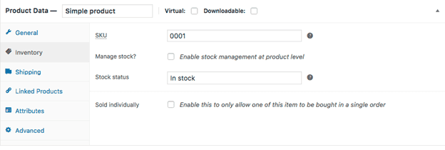 WooCommerce Product Inventory