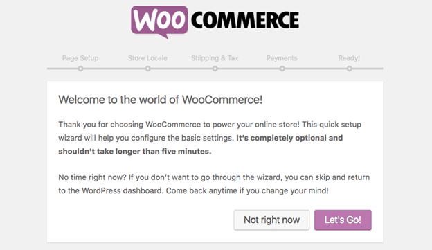 Setup WooCommerce on WordPress