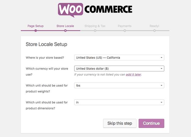 WooCommerce Store Locale Setup