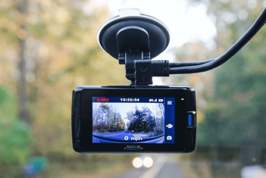 Dash Cam mounted on a Vehicle