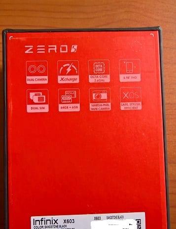 Infinix Zero 5 Box Specs