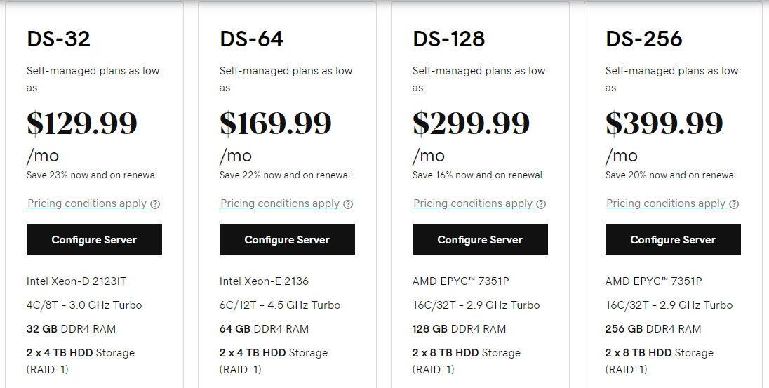 GoDaddy Dedicated Server HDD