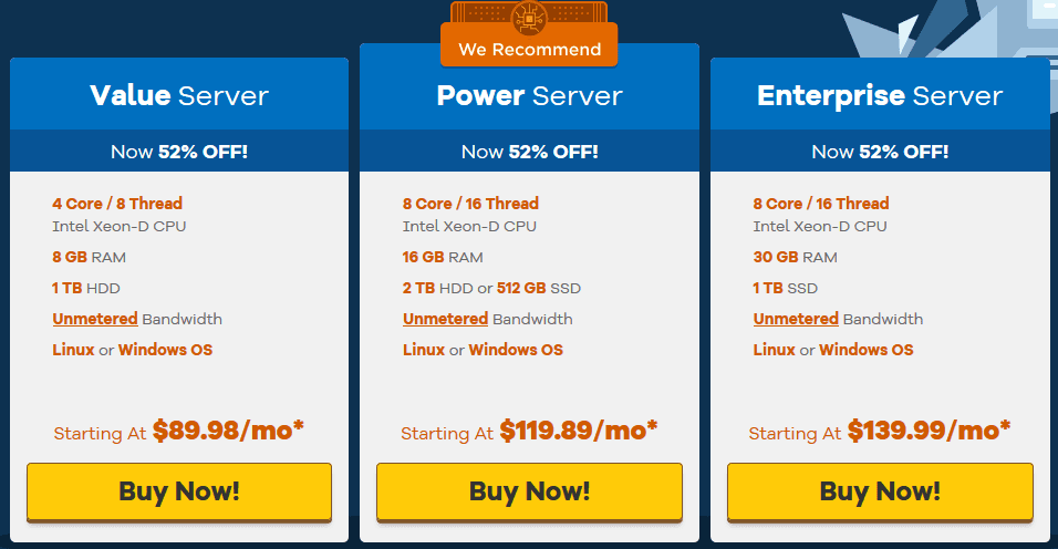 HostGator Dedicated Server Hosting