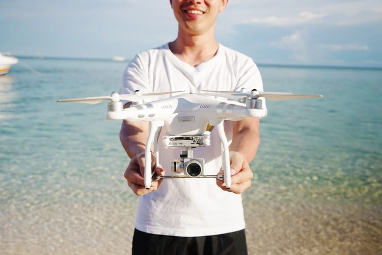 Holding a Drone