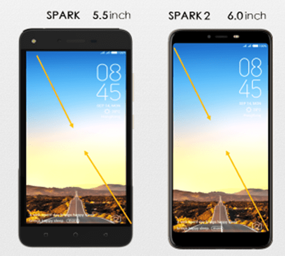 Tecno Spark 2 Screen